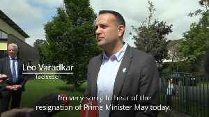 Leo Varadkar pays tribute to Theresa May [Video]