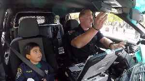 5-Year-Old Boy with Heart Defect Sworn in as Police Officer for a Day [Video]