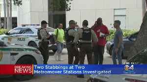 Two Separate Stabbings At Two Metromover Stations [Video]
