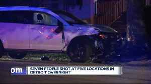 7 people shot in 5 separate incidents overnight in Detroit [Video]