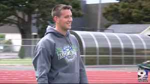 North Bend's Hampton sets sights on state javelin record [Video]