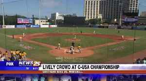 Lively crowd at day two of C-USA Championship [Video]