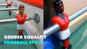 France is getting its first male and female foosball table [Video]