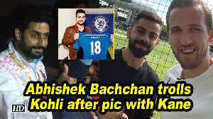 Abhishek Bachchan trolls Kohli after pic with Kane [Video]