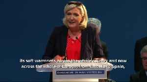 France's Le Pen holds last campaign rally before EU election [Video]