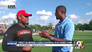 Bengals' Preston Brown leads youth football and cheer camp [Video]
