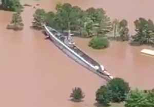 WW2-Era Submarine Secured After Being Refloated by Oklahoma Floods [Video]
