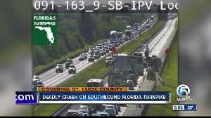Fatal crash closes Florida Turnpike SB lanes in St. Lucie County [Video]