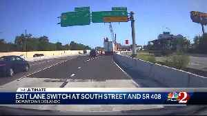 Heads up: Exit lane switch at South Street and SR 408 [Video]