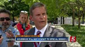 Governor will not commit to special session [Video]