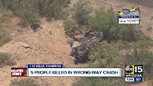 Five people killed in wrong-way crash on I-40 west of Kingman [Video]