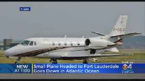 Small Plane Headed To Fort Lauderdale Crashes Into Ocean [Video]