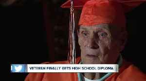 87-year-old man receives high school diploma in Akron [Video]