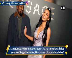 Kim Kardashian shares beautiful wedding photos on anniversary [Video]