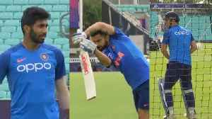 ICC World Cup 2019: Team India train at the oval ahead of NZ friendly [Video]