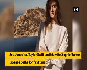 Joe Jonas wife Sophie Turner ex Taylor Swift appear on TV show together [Video]