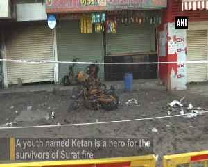 Surat fire Youth saves about 12 lives [Video]