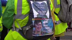 Friends of murdered journalist Lyra McKee begin peace walk