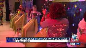 Students shave their heads for a good cause [Video]