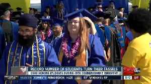 Mother of graduating CSUB student who passed away gets standing ovation [Video]
