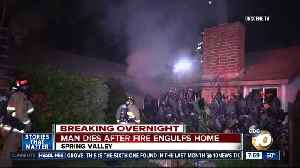 Man dies after Spring Valley house fire [Video]