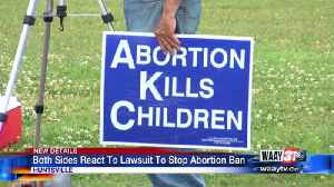 Protests Post Lawsuit Filed Against Abortion Law [Video]