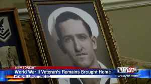 World War II veteran's remains brought home [Video]