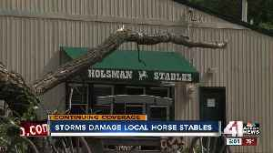 Kansas City horse stable damaged in Friday's storm [Video]