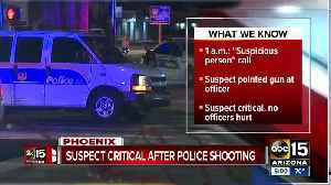 Suspect in critical condition after officer-involved shooting [Video]
