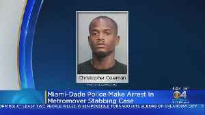 Man Arrested In Connection To Metromover Stabbing [Video]