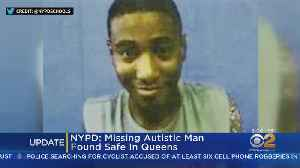 Missing Autistic Man Found Safe [Video]