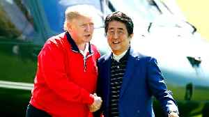 Donald Trump and Shinzo Abe tee off amid US-Japan trade tensions [Video]