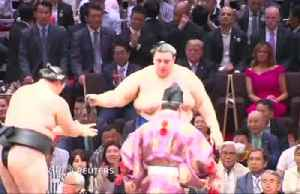 Trade talks aside, Trump and Abe bond over sumo [Video]