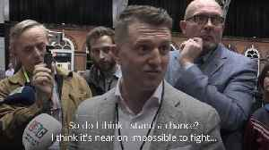 News video: Tommy Robinson cries foul in EU election race