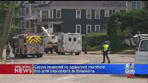 Brookline Street Closed After 12 Explosions From Manhole [Video]