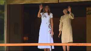 Akie Abe and Melania Trump enjoy flute concert at Akasaka Palace [Video]