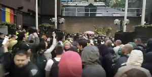 Romanians Protest Outside London Embassy After Voting Delays [Video]