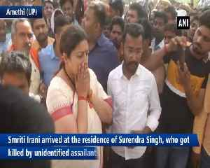 Smriti Irani pays last respect to her close aide in Amethi [Video]