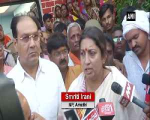 Smriti Irani takes oath to bring Amethi aide's killers to justice [Video]