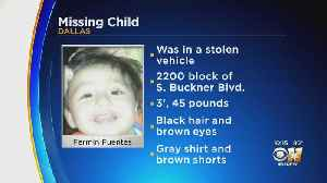 Dallas Police Looking For 4-Year-OId Child Who Was Inside Stolen Vehicle [Video]
