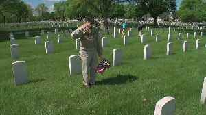 Flags Placed On Graves At Fort Snelling For Memorial Day [Video]