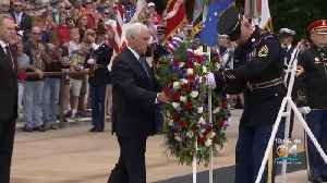 News video: Vice President Pence Leads Wreath Laying Ceremony In Virginia