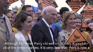 Vince Cable: European elections show support to remain in EU [Video]