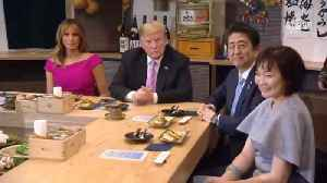 President Trump Goes On A Double Date With Prima Minister Abe [Video]