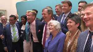Brexit Party celebrate EU elections success [Video]