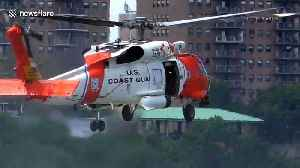 Coast Guard demonstrate search and rescue in Manhattan [Video]
