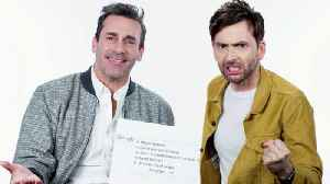 Jon Hamm & David Tennant Answer the Web's Most Searched Questions [Video]