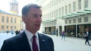 A general election in the UK would be political suicide for the Conservatives - Jeremy Hunt [Video]