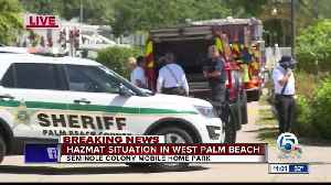 HAZMAT spill at Palm Beach County mobile home park, residents evacuated [Video]