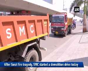 After Surat fire tragedy SMC begins demolition of all illegal constructions [Video]